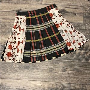 Zara Multi-printed Pleated Skirt